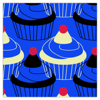 Cupcake Time Blue