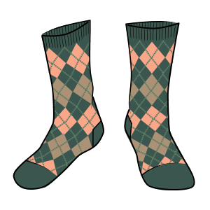 Selasia Argyle Sock