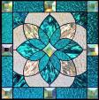 stained glass aqua