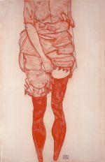 egon schiele in red