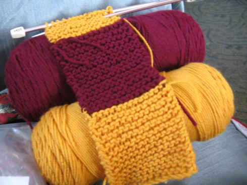 Gryffindor Scarf, in progress