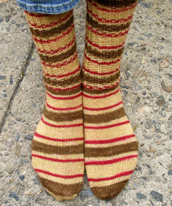 Garter Ribbed Socks