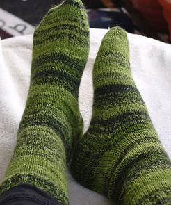 Green Sock KAL Socks