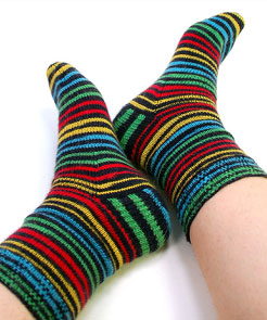 Simple-Stripey-Socks