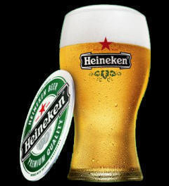 Heineken in a Glass