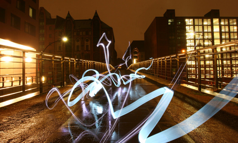 arrow light graffiti