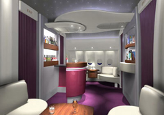 first class aboard Qatar Airways
