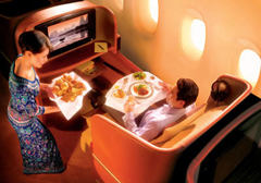 first class aboard Singapore Airlines