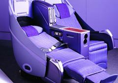 first class seating aboard Thai Airways
