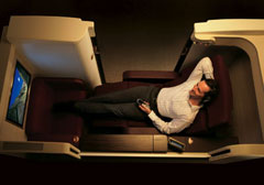 first class seating aboard Jet Airways
