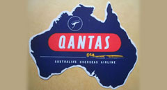 qantas airlines logo sticker