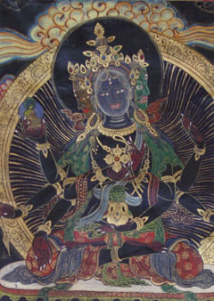 black thangka painting