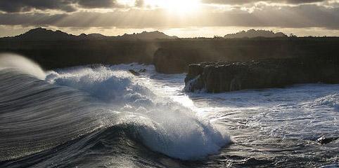 Waves & Rocks on the Hawaii Coastline
