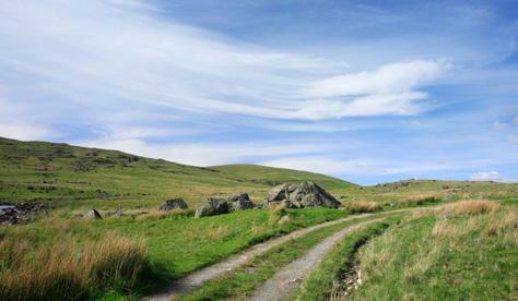 Scottish dirt road