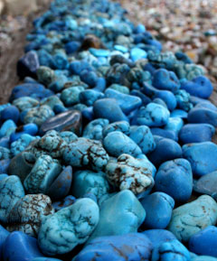 row or turquoise stones