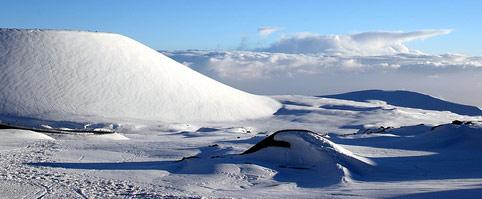 Snow Atop Mauna Kea - Hawaii