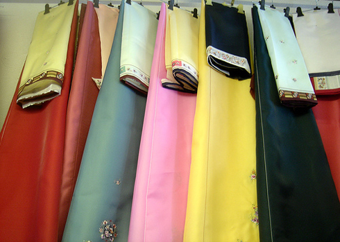 korean hanbok fabric colors
