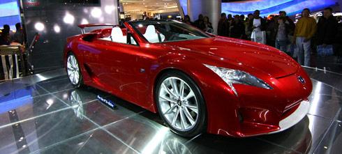 red lexus roadster