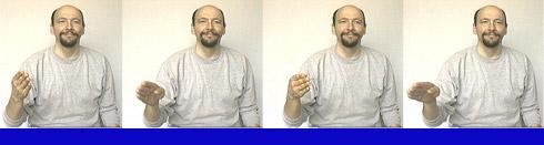 Sign Language Blue Color