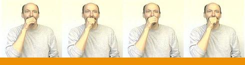 Sign Language Orange Color