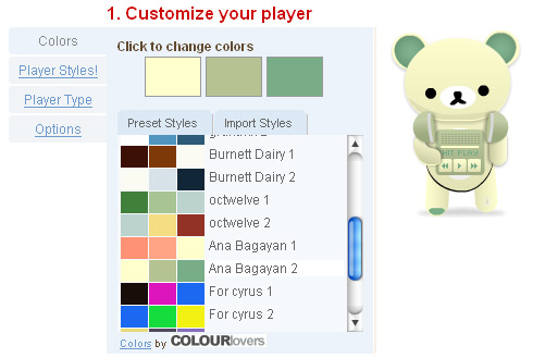 Add Color to Your Flash, Yahoo or Dashboard Widgets