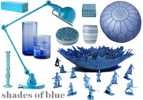 shades of blue. Do you enjoy shades of lue?