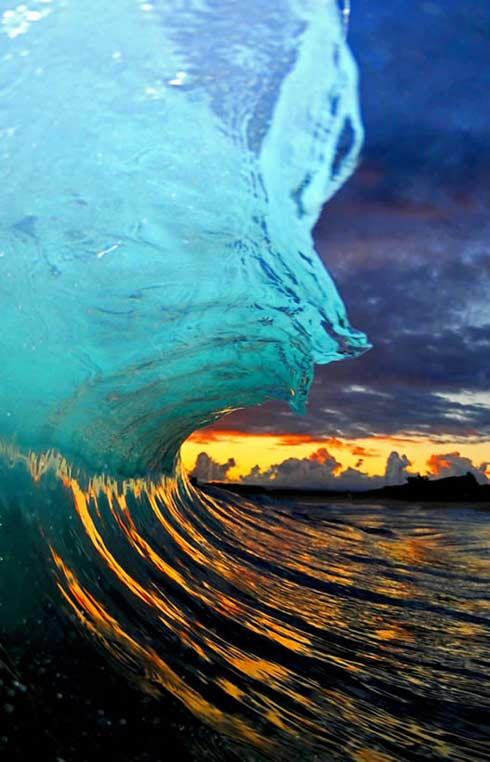 beach wave photography