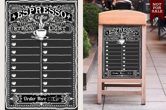 vintage espresso menu