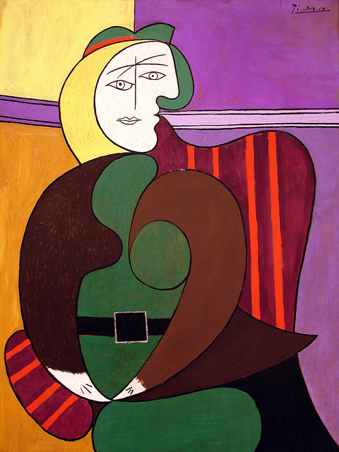 8-The Red Armchair by Pablo Picasso