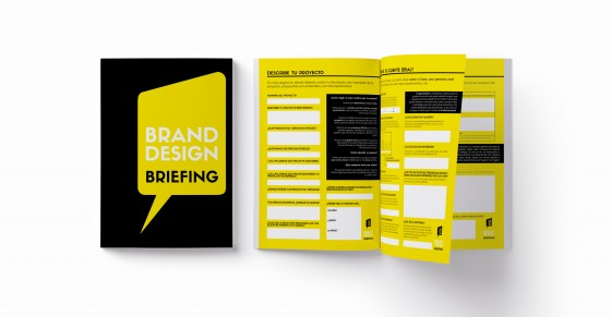 Our briefing questionnaire is an 8-page notebook we ask our clients to fill in.