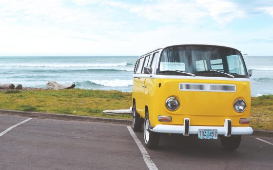 van colored yellow