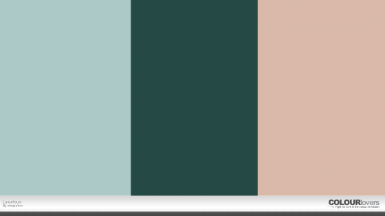 luxurious color palette