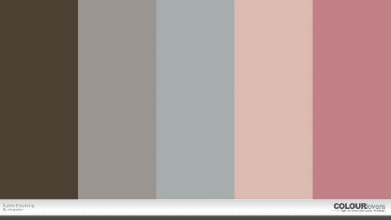 Subtle Blooming Colourlovers Palette