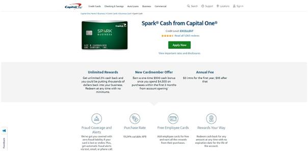 capital one spark