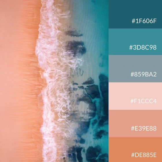 ocean from above palette