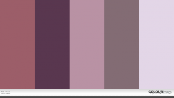 fall fruits purple color palette