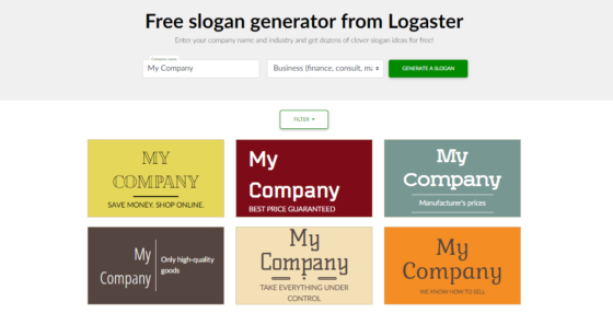 Logaster Slogan Maker