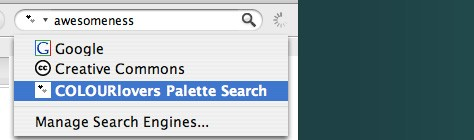 FireFox Color Palette Search