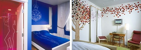 Colorful Designer Hotel Rooms