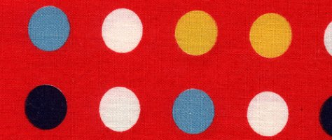 Vintage Color & Design: Red Fabric