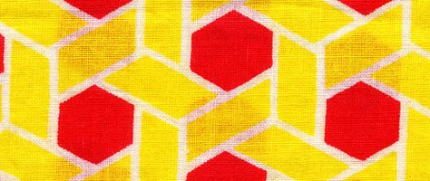Vintage Color & Design: Yellow Fabric