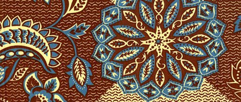 Vintage Color & Design: Purple & Brown Fabric