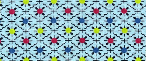 Vintage Color & Design: Blue Fabric
