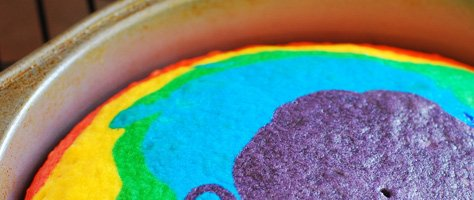 How To Make A Rainbow Cake!
