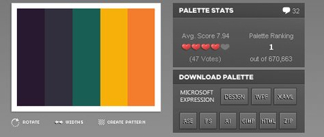 Download Color Palettes in XAML, WPF and Design