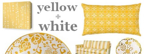Interior Design Trends: Yellow & White