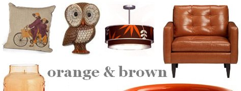 Interior Design Trends: Orange & Brown