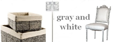 Interoir Design Trends: Gray & White