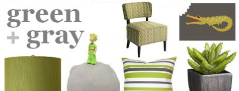 Interior Design Trends: Green & Gray