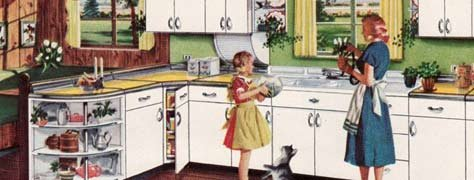 Vintage Interior Design Trends: 50's Kitchens